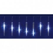Jégcsap fényfüzér, 270 hidegfehér LED, 5,6m, IP44 hálózati adapter