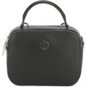 Tommy Hilfiger Women Casual Black PU Sling Bag