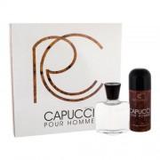 Roberto Capucci Capucci Pour Homme set cadou Lotiune dupa barbierit 100 ml + Deodorant 150 ml pentru bărbați