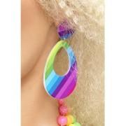 1980'S Neon Teardrop Earrings