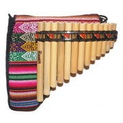 Peruvian Designs Beginners Pan flute with Guide Book & Online audio/video
