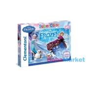 Jégvarázs - Anna, Elsa és Olaf - 104 db-os Csillámos puzzle