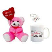 ME&You Gifts for Father, Father's Day Gifts, Father's Day Gift Set- Teddy, Mug & Keyring IZ18NJPTMK-1236