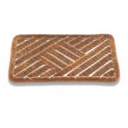 Covor Decorino, fibra de cocos/otel, S36-042802, 39x59 cm, Maro