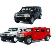 Jain Gift Gallery JACK ROYAL-2008 Hummer H2 SUV -(Black-White-Red) (Multicolor)