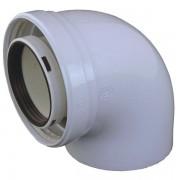 BEALAA601 - Cox Geelen Komín. koleno koaxiálne s kontrolnými otvormi DN125/80, BEALAA601