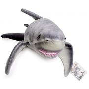 Kiki the Great White Shark | 4 1/2 Foot Long Big Stuffed Animal Plush | Shipping from Pennsylvania | By Tiger Tale Toys