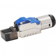 RJ45 Modular CAT7 / CAT8 Connector Shielded Tool Free up to 8mm Diameter Cable