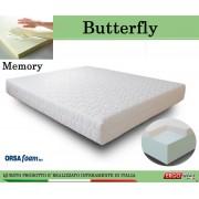 ErgoRelax Materasso Memory Mod. Butterfly Matrimoniale da Cm 160x190/195/200 Anallergico Sfoderabile Altezza Cm. 21 - Ergorelax