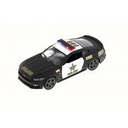 Kinsmart 2015 Ford Mustang GT Police, Black - 5386DP 1/38 Scale Diecast Model Toy Car