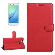 For Huawei nova Litchi Texture Horizontal Flip Leather Case with Holder & Card Slots & Wallet(Red)
