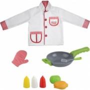 Set accesorii de bucatarie si costum de bucatar Chef 3 ani + Topi Toy