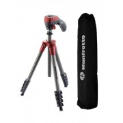Pachet Manfrotto MB BP E Essential rucsac foto Manfrotto Action Red kit trepied cu cap foto video hibrid