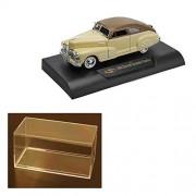 Diecast Car & Accessory Package - 1948 Chevy Aerosedan Fleetline , Beige - Signature Models 32437 - 1/32 Scale Diecast Model Toy Car w/display case