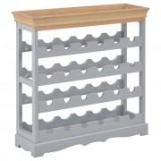 vidaXL Шкаф за вино, сив, 70x22,5x70,5 см, МДФ