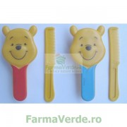Set Perie + Pieptene forma Pooh Disney 2205 Primii Pasi