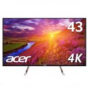"Monitor IPS, ACER 43"", ET430Kwmiiqppx, 5ms, 100Mln:1, DVI/HDMI/DP, Speakers, BlueLight Shield, UHD 4K (UM.ME0EE.010)"