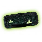 Teclado Gaming KEEP-OUT 3 perfis, 8 gaming keys, 7 backlightning, Inglês - F80E