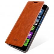 Capa com Cobertura Mofi Rui Series para Microsoft Lumia 640 Dual SIM, Lumia 640 LTE - Castanho