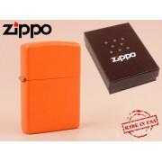 Zippo - öngyújtó matt narancssárga -Nyugdíjbavonulási ajándék
