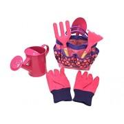 Wodar Kids Children Gardening Tools Set Garden Toys with Storage Bag Pink)