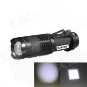 KINFIRE SK88 LED 150lm 3-modo blanco con zoom linterna - negro (1 x AA / 14500)