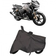De Autocare Premium Quality Grey Matty Two Wheeler Bike Body Cover For TVS Apache RTR 180