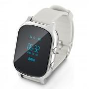 VESKYS reloj inteligente w / GPS tracker? monitor remoto? sos - plata + negro