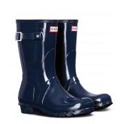 Hunter Regenlaarzen Boots Original Short Gloss Blauw