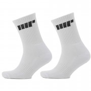Myprotein Crew Socks - UK 9-12 - White/White