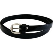 Jars Collections Girls Black Artificial Leather Belt