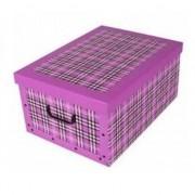 Merkloos Opbergbox/Opbergdoos fuchsia roze 53 x 38 cm