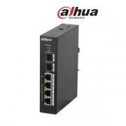 Dahua PFS3206-4P-96 PoE switch, 3x 10/100(PoE+/PoE) + 1x gigabit(HighPoE/PoE+/PoE) + 2x SFP uplink, 96W, 53VDC