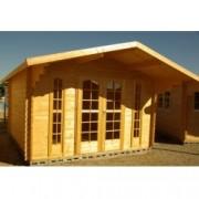 Cabaña de madera Violeta 380x320 cm para Jardín