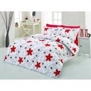 Спално бельо RED FLOWERS – 100% Памук