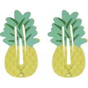 Lucardi Diversen - Haarclipjes voor kids ananas
