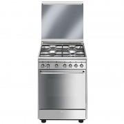 SMEG Cx60sv9 Cucina 60x60 4 Fuochi A Gas Forno Elettrico Ventilato Classe A 70 L