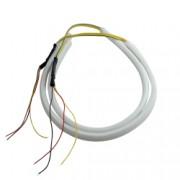 Set 2 tuburi flexibile led DRL tip neon pentru masina sau moto cu lumini de zi si semnalizare dimensiune 60 cm - Phuture R