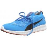 Puma Men's Ignite Proknit Atomic Blue, White and Red Blast Running Shoes - 10 UK/India (44.5 EU)