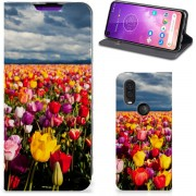 Motorola One Vision Smart Cover Tulpen
