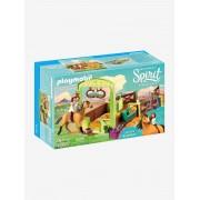 Playmobil 9478 Estábulo 'Lucky e Spirit', da Playmobil castanho medio liso