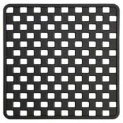 Douche Concurrent Douchemat Antislip Sealskin Doby Rubber Zwart met Zuignappen 50x50cm