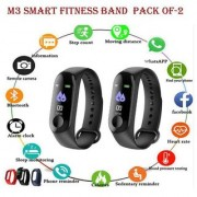 Dawn M3 Smart Band With Heart Rate Sensor Features And Many Other Impressive Features Pack of-2 Water Proof Or Swe