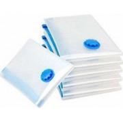 Set 12 saci pentru vidat haine marime 80 x 100 cm transparent