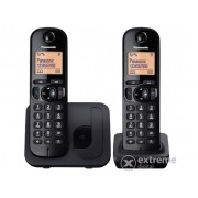 Panasonic KX-TGC212PDB DECT DUO bežični telefon, crna