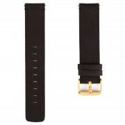 Lucleon Svart & Guldfärgat Klockarmband med Svarta Stygn