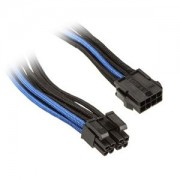 Cablu prelungitor Silverstone 8-pini EPS la 8-pini (4+4) EPS12V, 30cm, Black/Blue, PP07-EPS8BA