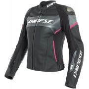 Dainese Racing 3 Lady D-Air® Airbag Damen Motorrad Lederjacke Schwarz Pink 38