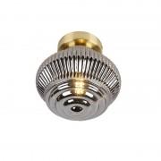 QAZQA Art Deco Ceiling Lamp Brass with Smoke Glass Shade- Bolsena