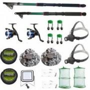 Set complet de pescuit cu lansete eastshark de 2 4m si 3 6m doua mulinete si accesorii pentru pescuit